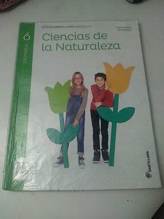 Libro Ciencias de la naturaleza 6° primaría