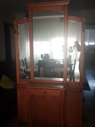 mueble entradita recibidor con espejo