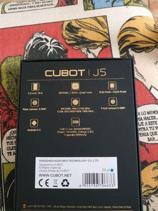 teléfono movil cubot j5 2gb ram 16 gb memoria