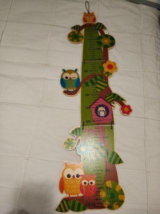 Medidor de altura de pared de niños