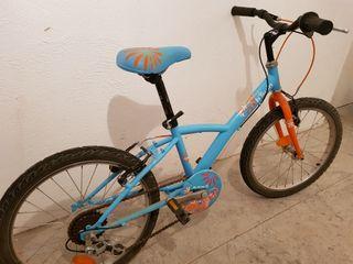 "Bicicleta niña ruedas 20"" 5 piñones"