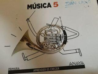 Libro de texto de musica 5° primaria ANAYA