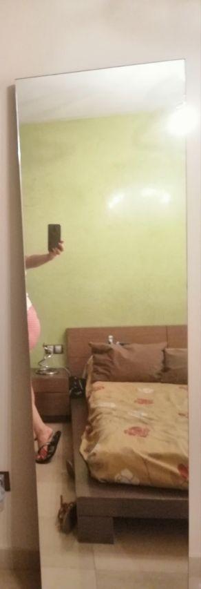espejo de pie en madera