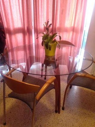 mesa de cristal para salón comedor