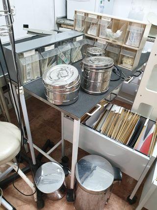 utensilios, mobiliario y componentes de clínica Ve