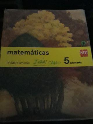 Libros mates 5° primaria ISBN:978-84-675-6993-3