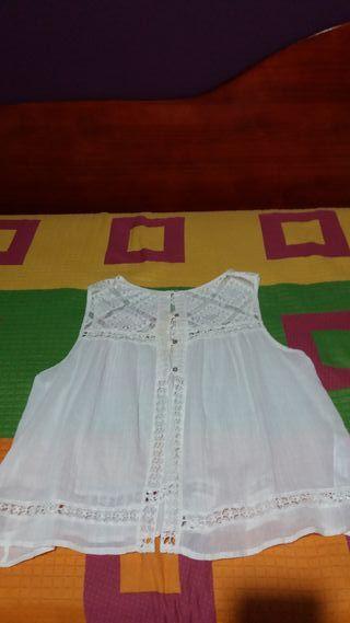 blusa blanca talla M