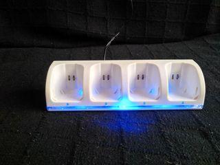 Cargador de mandos para Wii de Nintendo Blue ligth