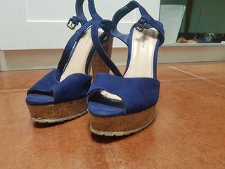 Zapatos tacón corcho