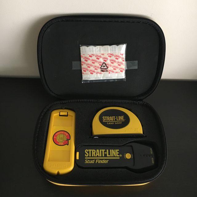 kit tiralineas laser con nivel y detector de metal