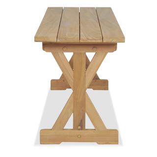vidaXL Banco de jardín 150 cm madera maciza 245499