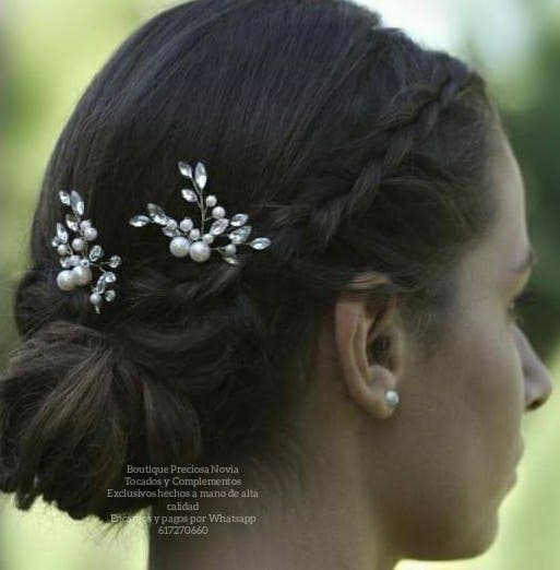 Tocado Artesanal novia invitada a boda Horquillas
