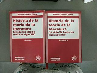Volumen I y II de Historia de la teoría de la lite