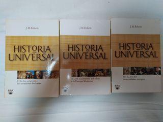 Historia Universal. 3 libros