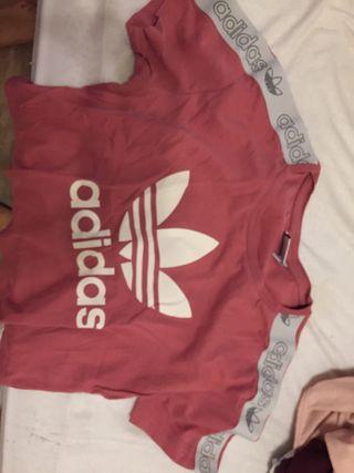 camiseta adidas rosa manga corta