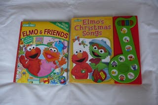 2 libros en Inglés Sesame para niños de 3 años