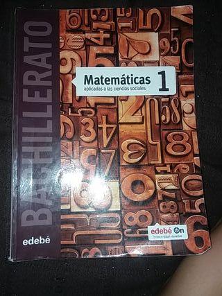 libro matematicas 1°Bachillerato CCSS edebé