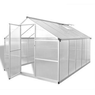 vidaXL Invernadero de aluminio reforzado 41319
