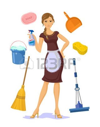 Mujer limpieza