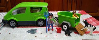 vehiculo con remolque playmobil