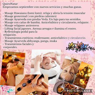 Quiromasaje y tratamientos estéticos