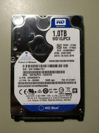 """Disco Duro WD 2.5"""" 1 TB 5400 rpm"""