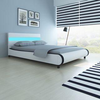 vidaXL Estructura de cama con LED de cuero 242387