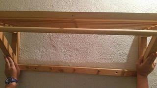 PERCHERO ESTANTE de PARED, madera 75 cm.