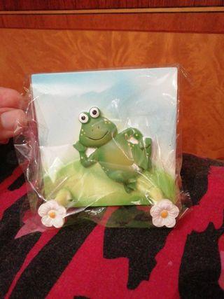 Percha perchero figura rana nuevo flor flores