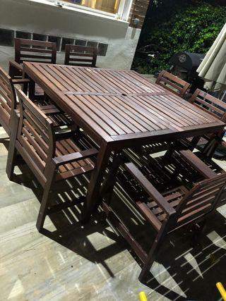 Conjunto mesa y sillones jardín