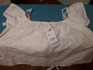 Blusa talla S blanca
