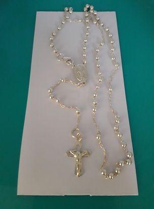 Gargantilla rosario plata de ley
