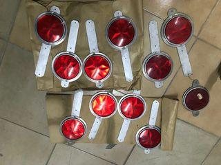 Reflectores moto clasicos rojos
