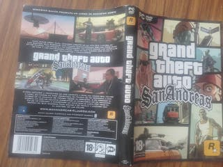 Guía urbana+carátula+mapa+poster GTA SanAndreas pc