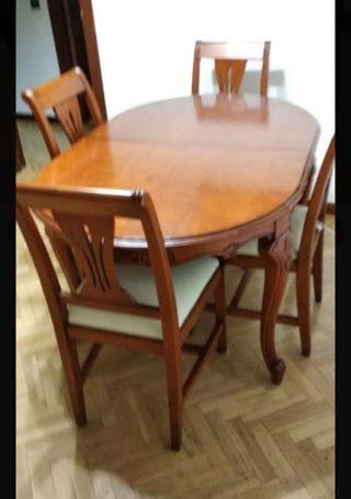 mesa de comedor con 4 sillas se recoge mostoles