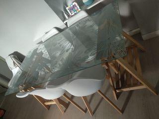Mesa Escritorio de cristal de Ikea