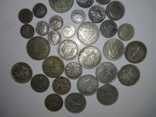 32 monedas de plata Lote