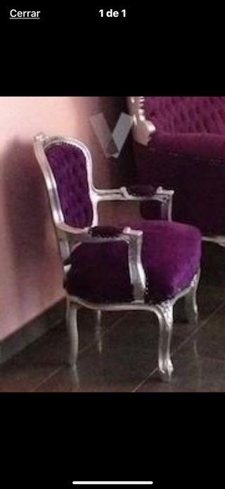 Mini sillón morado