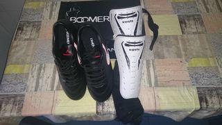 botas de futbol+espinilleras