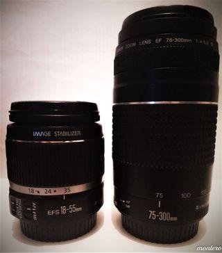 OBJETIVO PACK 75-300mm F4-5,6 III+18-55mm F3.5-5.6