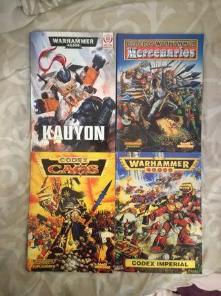 Pack Codex Warhammer 40000 y Fantasy
