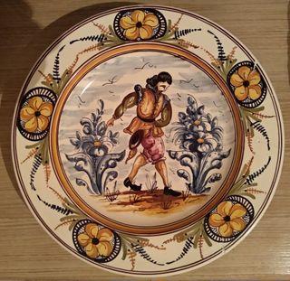 "Plato grande de cerámica ""Alonso"""
