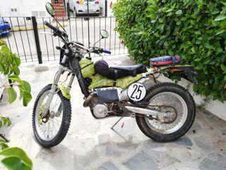 moto trial excursión
