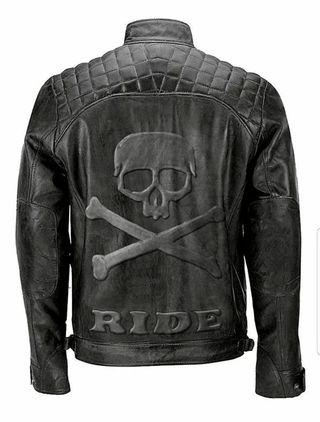 Skull Ride Distressed Cafe Black Racer Motorcycle
