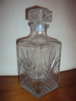 licorera de vidrio antigua