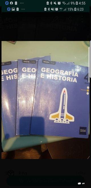 Libros De Geografia e historia 4 Eso