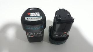 2 baterias y cargador black & decker
