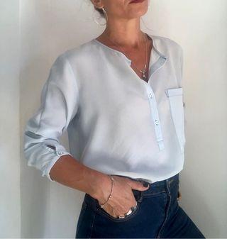 Blusa seda Zara