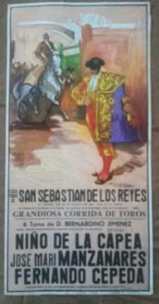 CARTEL DE SAN SEBASTIAN DE LOS REYES 1987.