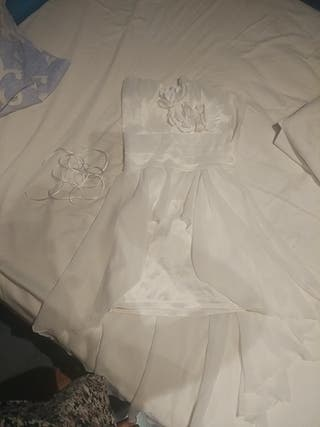 Vestido Blanco tipo cóctel o para boda civil